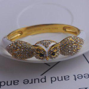 Kate Spade Diamond Enamel Owl Bracelet